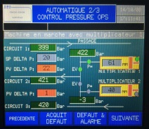 Panel tactile de pilotage